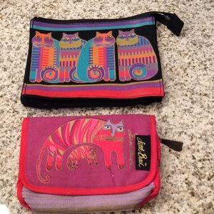 Laurel Burch Cat Print Makeup Bag Bonus